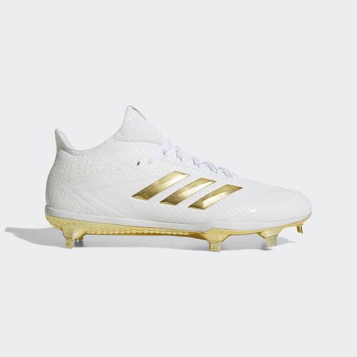 adidas - adizero Afterburner 4 Cleats Running White Ftw  /  Metallic Gold  /  Metallic Gold BY3312