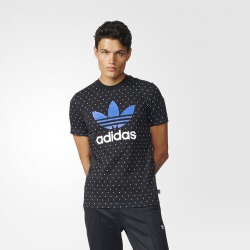 adidas - Pharrell Williams HU Logo Tee Black  /  White BR1830