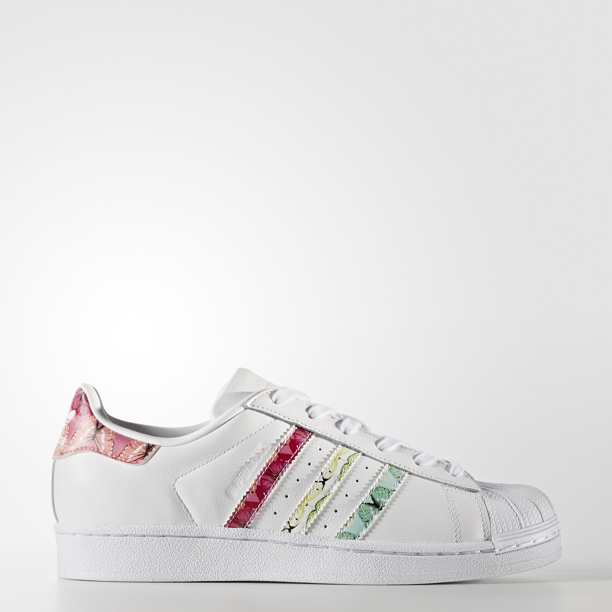 adidas Superstar W Womens Trainers Black Floral Shoes 6 UK