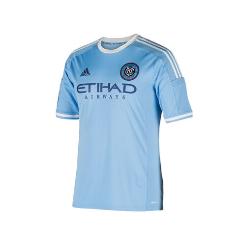adidas - New York City FC Home Replica Jersey Bahia Lt Blue  /  White A99082