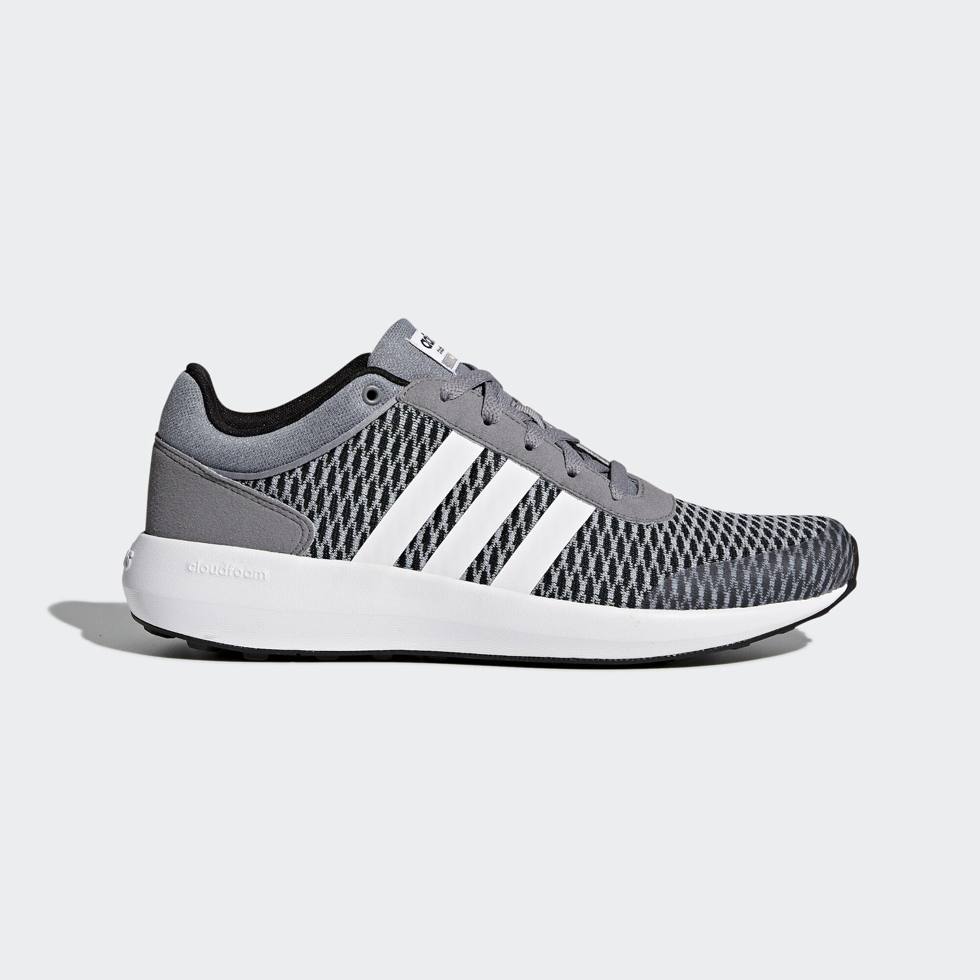 adidas - Cloudfoam Race Shoes Core Black / Running White / Grey AW5327