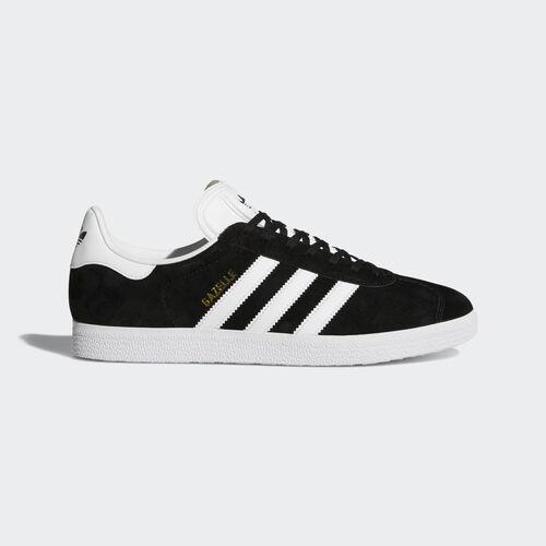 adidas - Gazelle Shoes Core Black  /  White  /  Gold Metallic BB5476