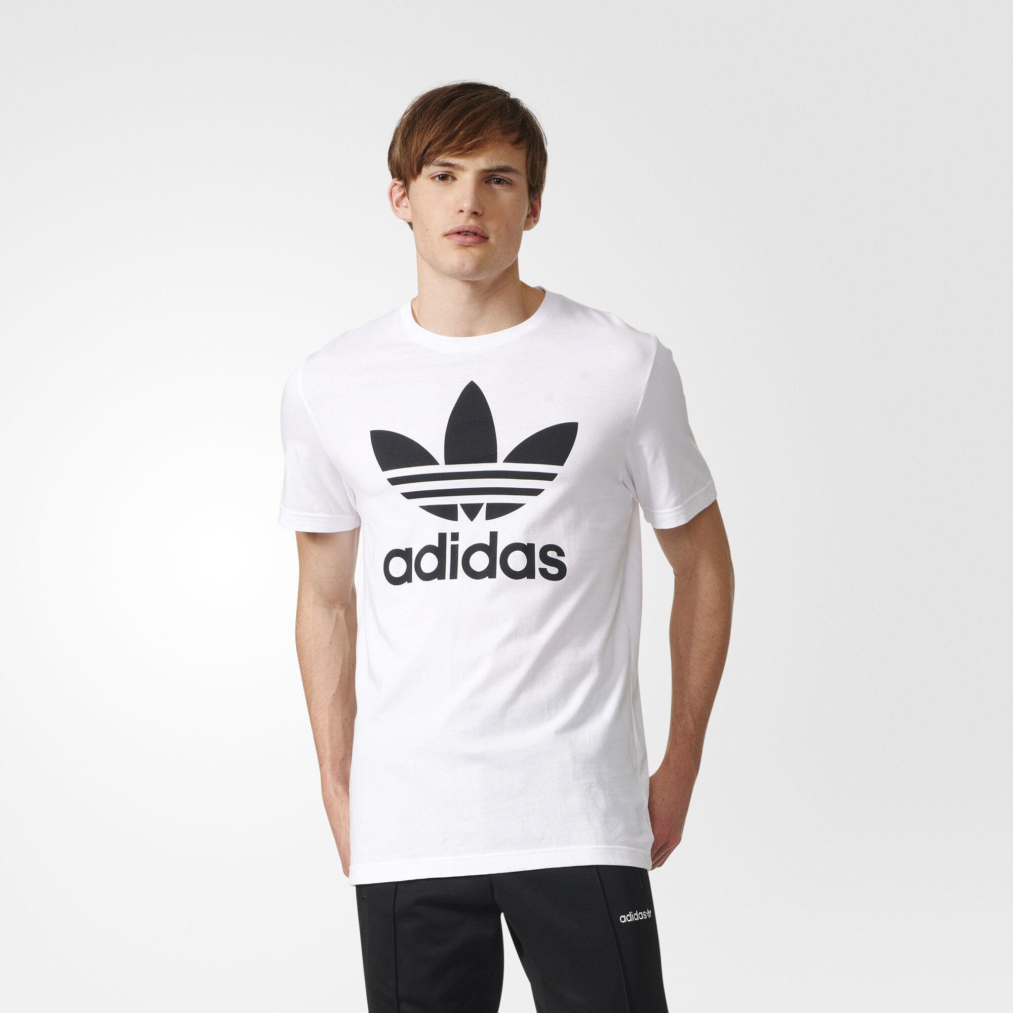 T shirt adidas white - Adidas Trefoil Tee White Aj8828