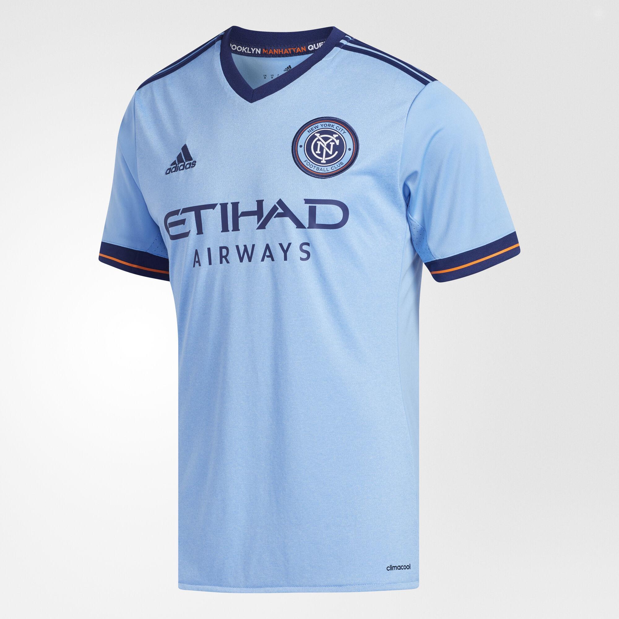 Shirt design maker near me - Adidas New York City Fc Home Replica Jersey Bahia Lt Blue Night Sky Ay7007