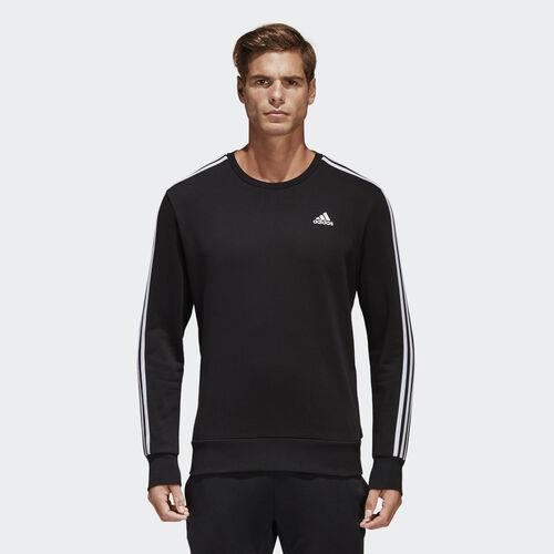 adidas - Essentials 3-Stripes Sweatshirt Black  /  White S98803