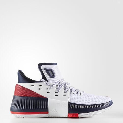 adidas - Dame 3 Shoes Running White  /  Light Scarlet  /  Collegiate Navy BW1101