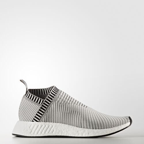 adidas - NMD_CS2 Primeknit Shoes Solid Grey  /  Running White Ftw  /  Shock Pink BA7187