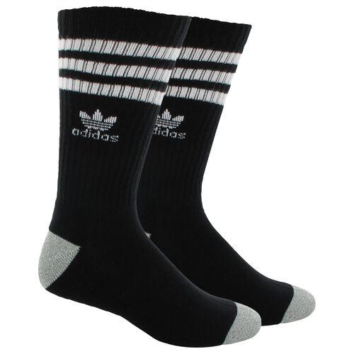 adidas - Roller Crew Socks 1 Pair Black  /  White Q18127