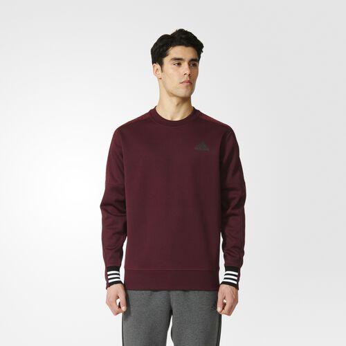 adidas - ID Crew Sweatshirt Maroon  /  Black AY3536