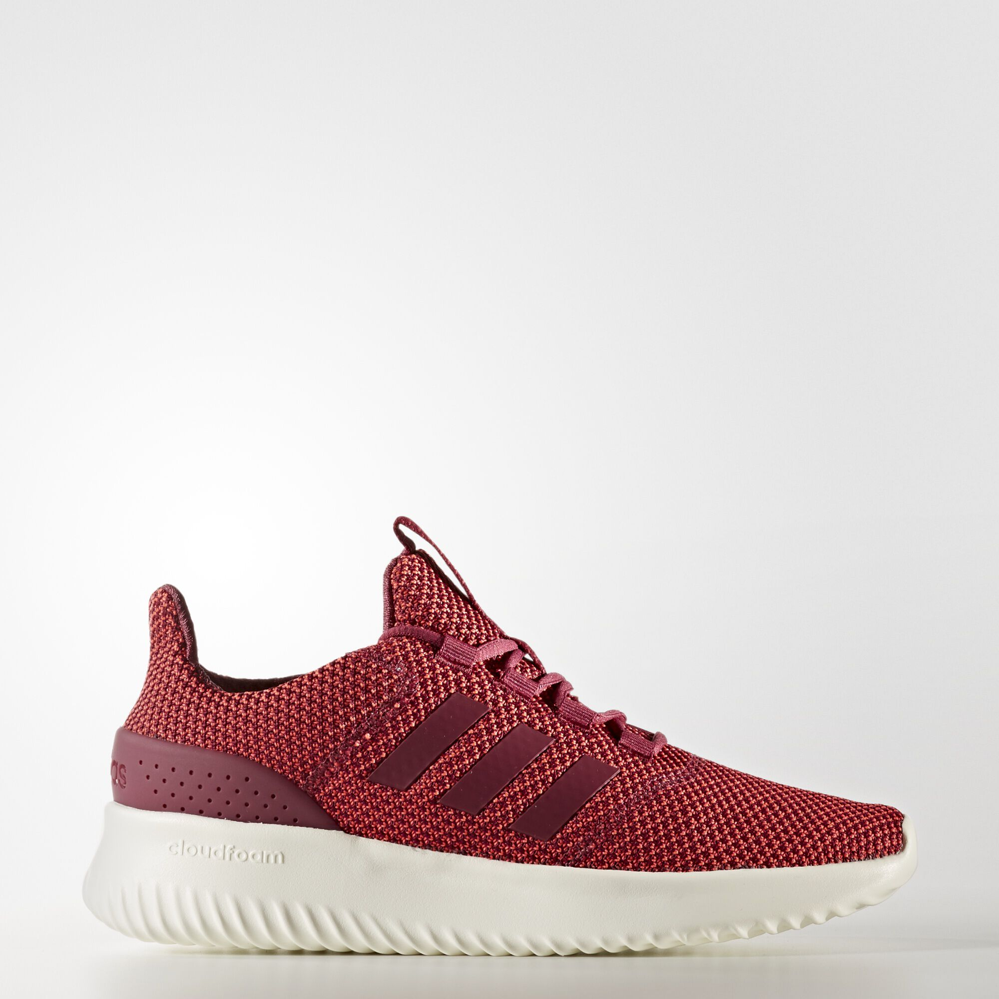 adidas - Cloudfoam Ultimate Shoes Shock Red / Chalk White BC0035