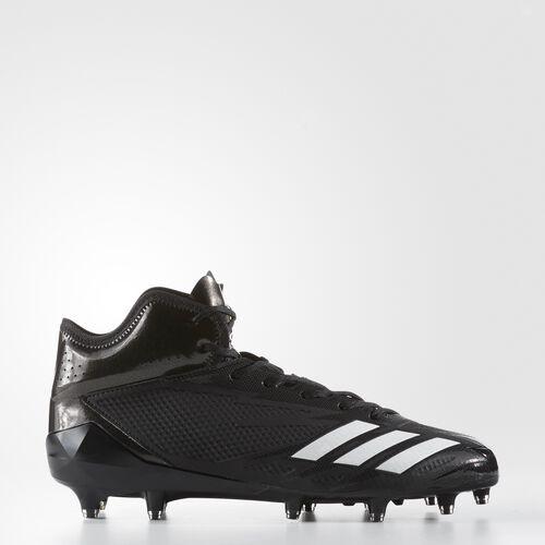 adidas - adizero 5-Star 6.0 Mid Cleats Core Black  /  Running White  /  Running White BW1092