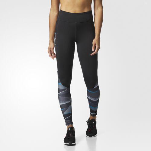 adidas - Performer Camono Stripe-Print High-Rise Tights Black  /  Black BQ5340