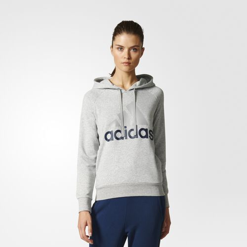 adidas - Essentials Linear Pullover Hoodie Medium Grey Heather B47027