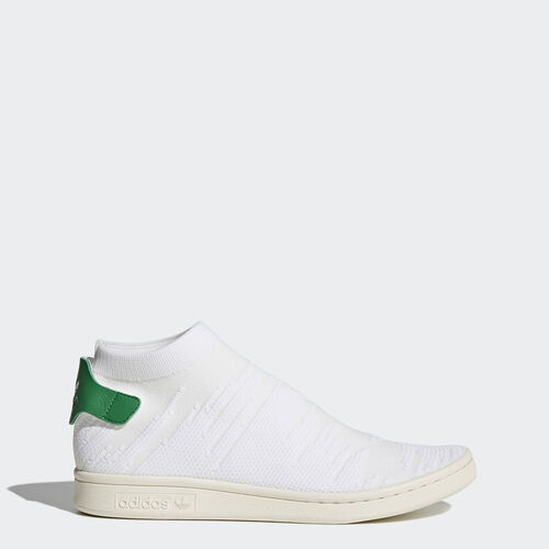 adidas - Stan Smith Shock Primeknit Shoes Running White  /  Running White  /  Green BY9252