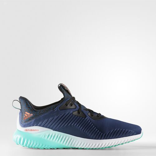 adidas - Alphabounce Shoes Mineral Blue  /  Solar Red  /  Shock Green AQ8215