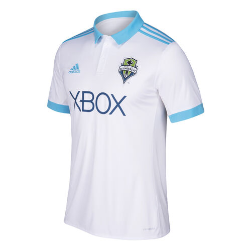 adidas - Seattle Sounders FC Away Replica Jersey White  /  Light Aqua BP9518
