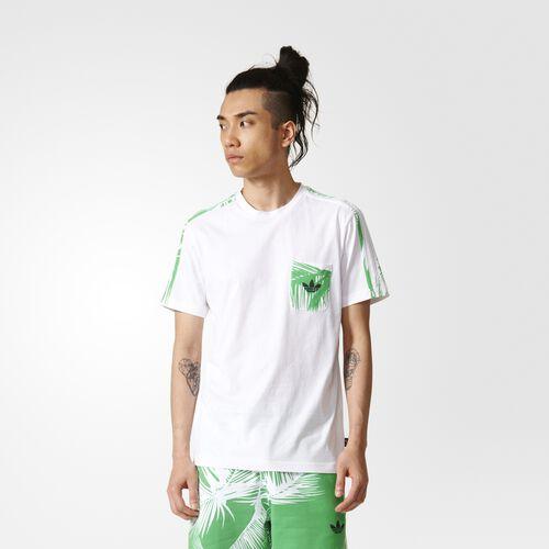 adidas - Pharrell Williams BBC Pocket Tee White  /  Vivid Green BR0693
