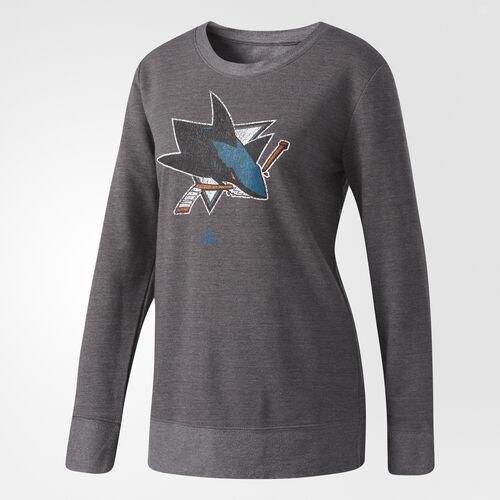 adidas - Sharks Distressed Logo Sweatshirt White CC2190