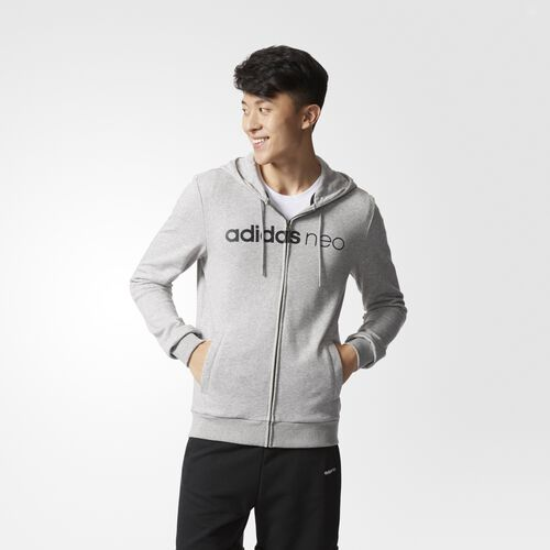adidas - Essential Zip Hoodie Medium Grey Heather  /  Black BK6949