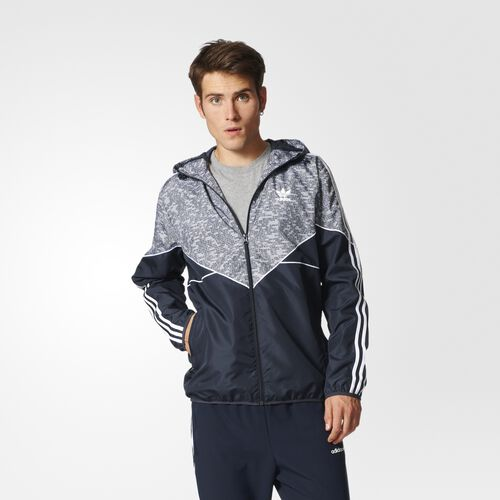 adidas - Essentials Windbreaker Night Grey  /  Multicolor AY8353