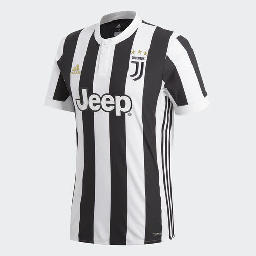 adidas - Juventus Home Replica Jersey White  /  Black BQ4533