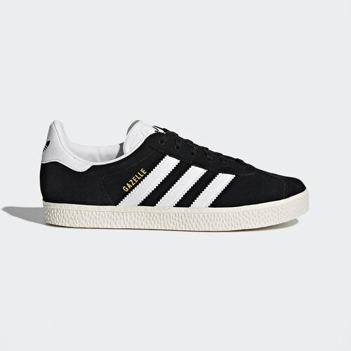 adidas - Gazelle Shoes Core Black  /  Running White  /  Metallic Gold BB2502