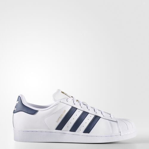 adidas - Superstar Shoes Running White Ftw  /  Collegiate Navy  /  Metallic Gold BY3712
