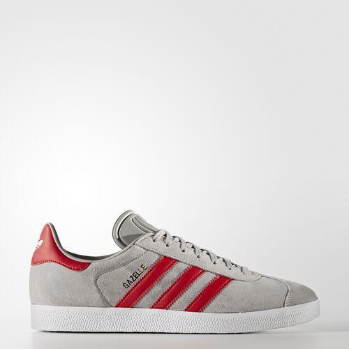 adidas - Gazelle Shoes Multi Solid Grey  /  Scarlet  /  Running White Ftw BB5257
