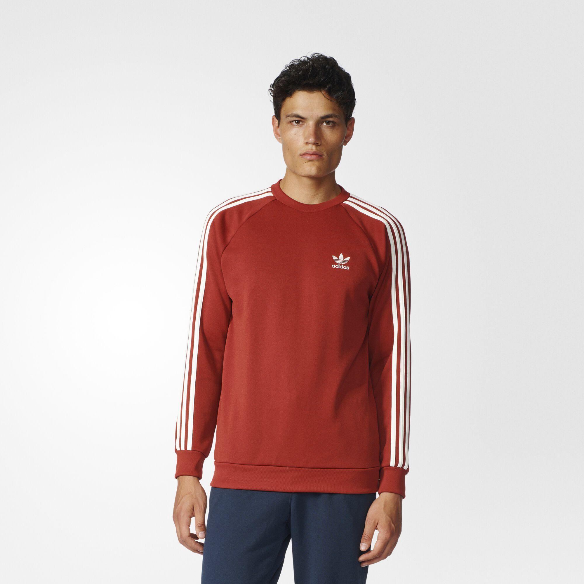 adidas Superstar Sweatshirt - Red | adidas US