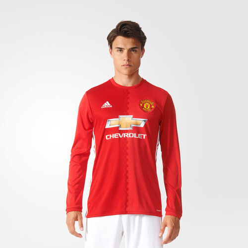 adidas - Manchester United FC Home Replica Jersey Real Red  /  University Red  /  White AI6718