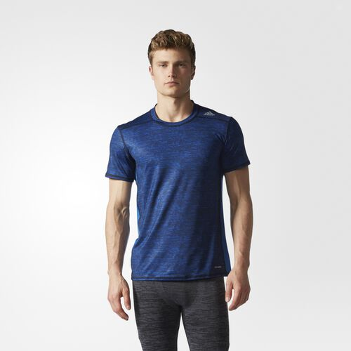 adidas - Techfit Base Tee Blue  /  Black AZ1019