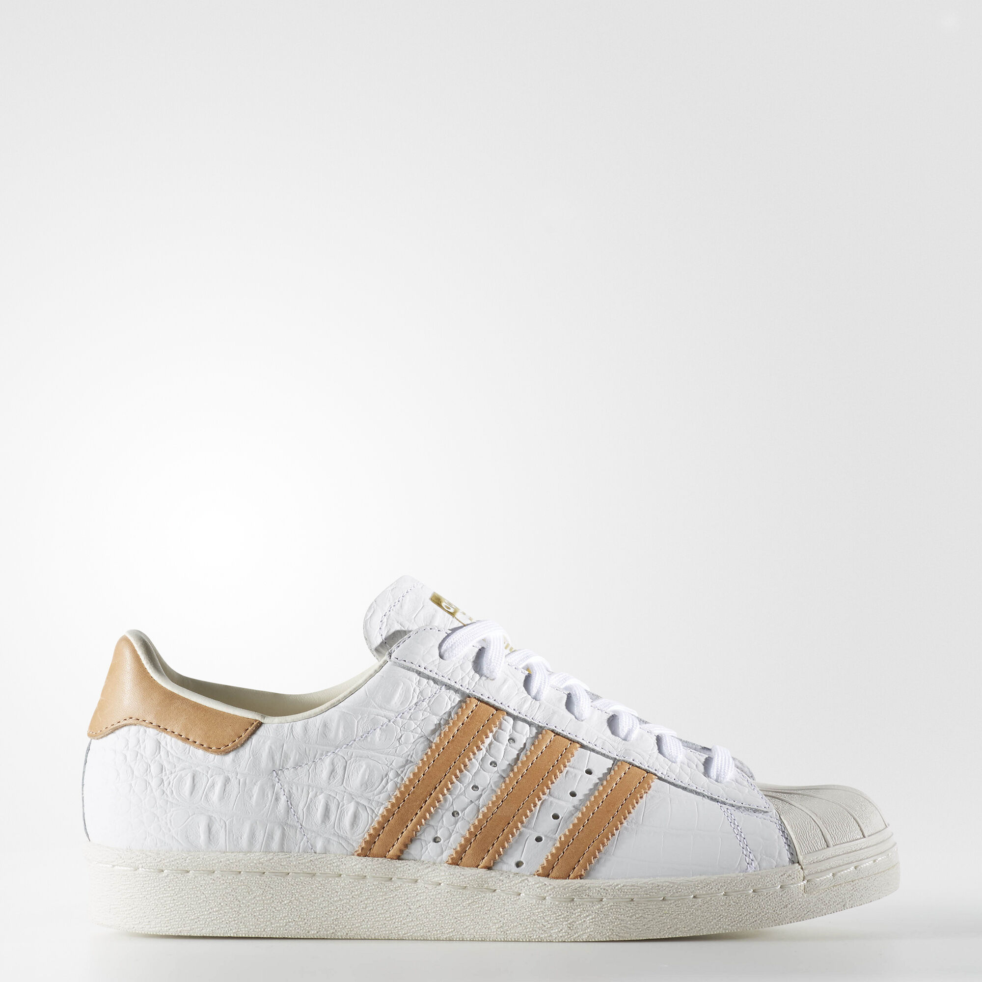 finest selection dd7d5 bce7e Adidas Superstar 80s Rose Gold Metallic White Leather ...