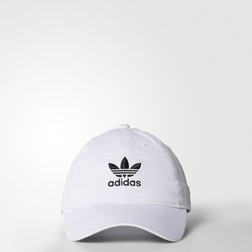 adidas - Originals Relaxed Strap-Back Hat White BH7142