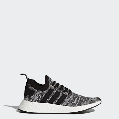 adidas - NMD_R2 Primeknit Shoes Core Black  /  Core Black  /  Running White BY9409