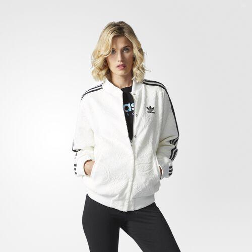 adidas college jacket white adidas us. Black Bedroom Furniture Sets. Home Design Ideas