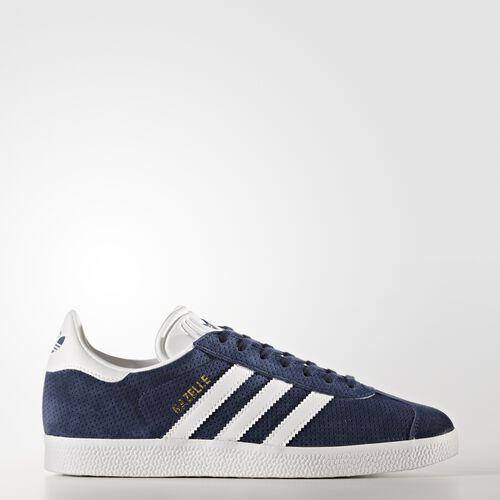 adidas - Gazelle Shoes Collegiate Navy  /  Running White  /  Gold Metallic BY9359
