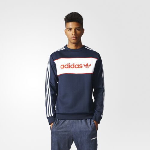 adidas - Block Crew Sweatshirt Legend Ink BK7809