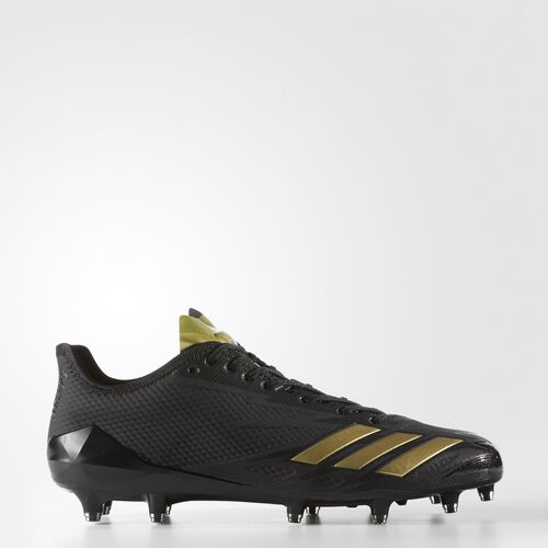 adidas - adizero 5-Star 6.0 Cleats Core Black  /  Metallic Gold  /  Black BW0338