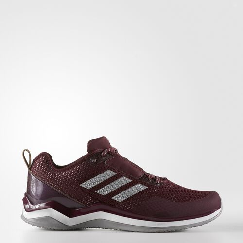 adidas - Speed Trainer 3 Shoes Maroon  /  Metallic Silver  /  Running White Q16548