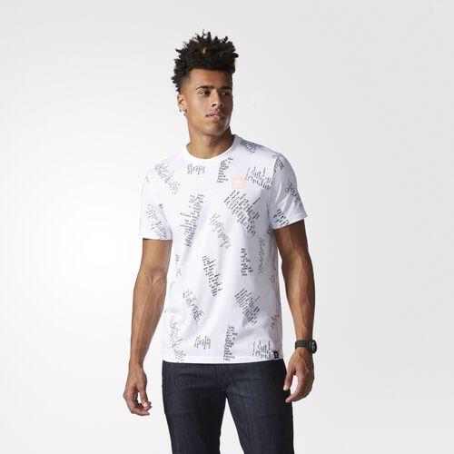 adidas - Allover Print Poet Graphic Tee White BJ8685