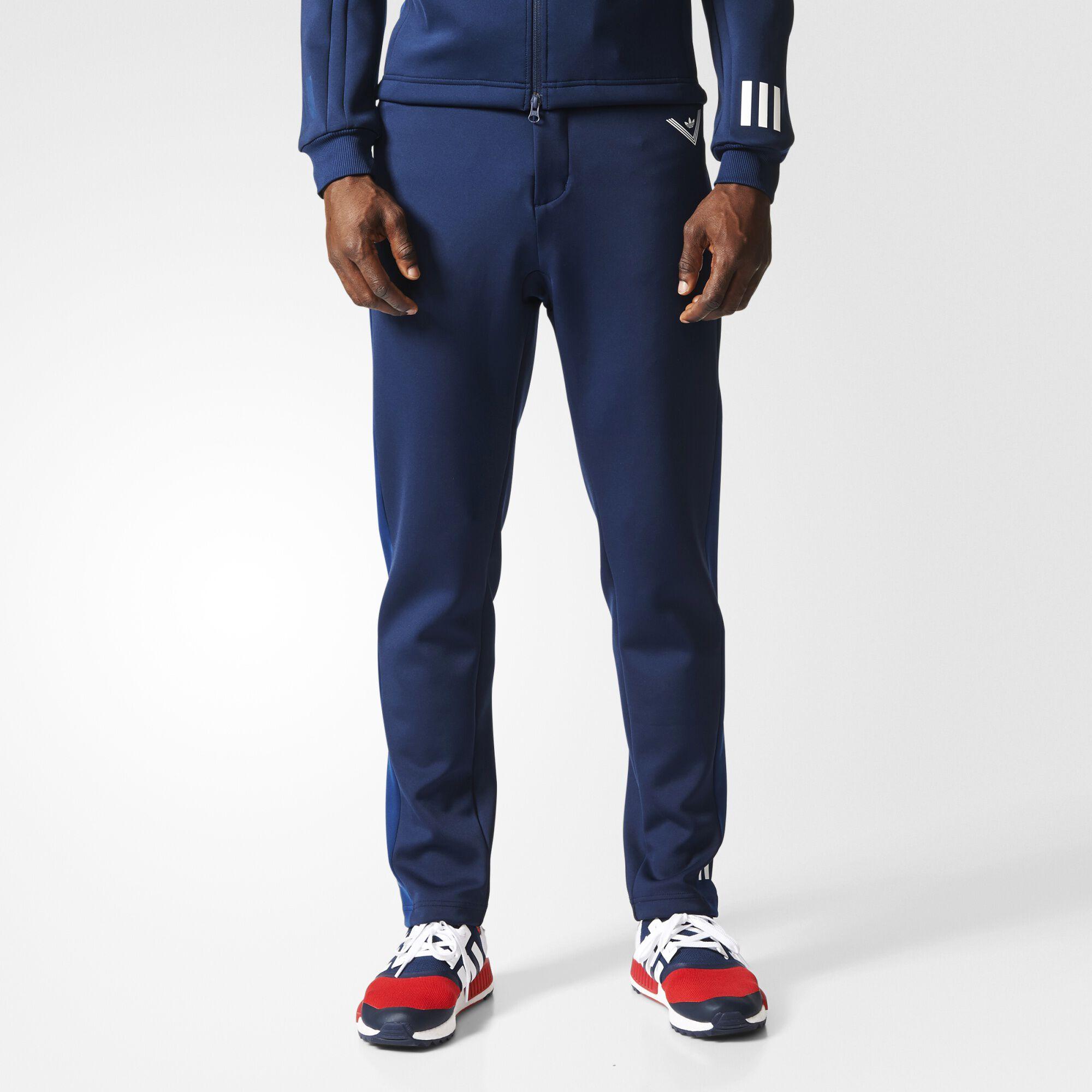 adidas slim fit track pants mens