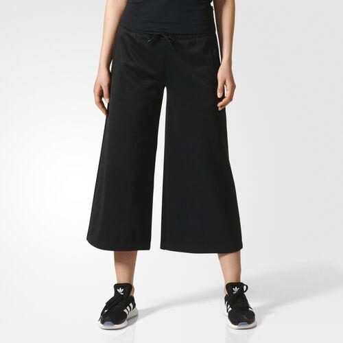 adidas - Brklyn Heights Wide Leg Seven-Eighth Pants Black CF1174