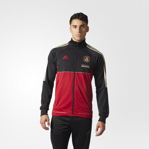 adidas - ATL ANTHEM JKT      BLACK/VICRED Black  /  Victory Red  /  Light Football Gold AY4660