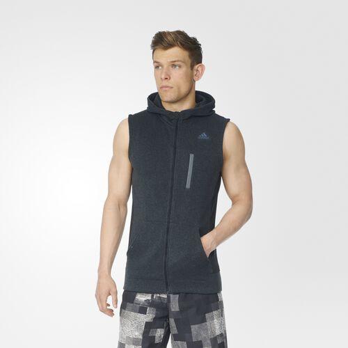 adidas - Ultra Energy Sweatshirt Vest Black  /  Solid Grey AP8166
