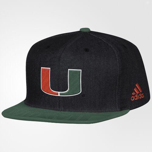 adidas - Hurricanes Flat-Brim Snapback Hat Black BW5357