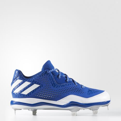 adidas - PowerAlley 4 Cleats Collegiate Royal  /  Running White  /  Metallic Silver Q16487
