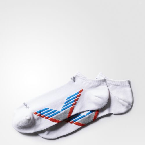 adidas - Climacool X 3 No-Show Socks 2 Pairs White AN8573