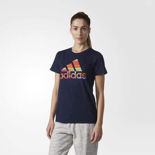 adidas - Serape-Print Logo Tee Collegiate Navy  /  Multicolor BR2990