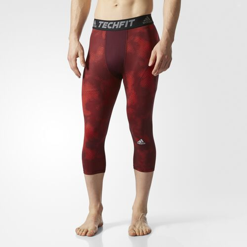 adidas - Techfit Dynamic Rise 3/4 Tights Core Red BK1454