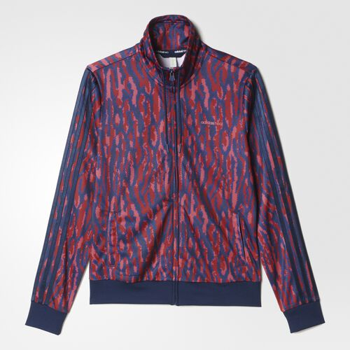 adidas - Animal Print Track Jacket Collegiate Burgundy  /  Collegiate Navy AY9811